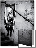 Philippe Hugonnard - Pouliční umění na zdi podél schodů vPaříži Obrazy