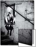 Arte de la calle en un muro de una escalera en París Láminas por Philippe Hugonnard