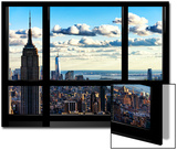 Window View, Empire State Building and the One World Trade Center (1WTC), Manhattan, New York Prints by Philippe Hugonnard