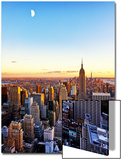 Empire State Building and One World Trade Center at Sunset, Manhattan, New York Poster par Philippe Hugonnard