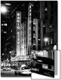 Radio City Music Hall and Yellow Cab by Night, Manhattan, Times Square, NYC, USA Prints by Philippe Hugonnard