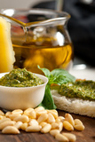 Italian Basil Pesto Bruschetta Ingredients Photographic Print by  keko64