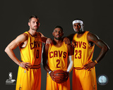 Kevin Love, Kyrie Irving, & LeBron James 2014 Foto