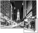 City Hall and Avenue of the Arts by Night, Philadelphia, Pennsylvania, US Prints by Philippe Hugonnard