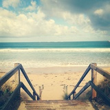 Wooden Steps at Beach Photographic Print by Jodie Griggs