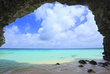 Crystal Clear Water Beach with Natural Arch Photographic Print by  imagewerks