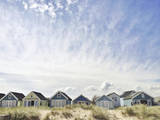 Beach Huts-Mudeford Photographic Print by Denise Taylor