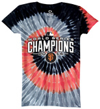 Juniors: San Francisco Giants - 2014 World Series Champions Spiral Dye (v neck) T-Shirt