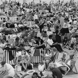 Margate Crowds Photographic Print by Evening Standard