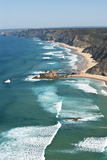 Portugal, Algarve, Sagres, View of Atlantic Ocean with Waves Photographic Print by  Westend61