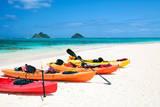 Kayaks on Lanikai Beach Photographic Print by M Swiet Productions