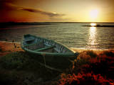 Low Tide and Boat Photographic Print by  julioc