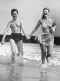 Couple on Beach Photographic Print by George Marks