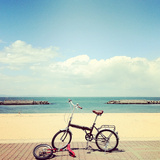A Bicycle and Unicycle Photographic Print by  gurizou
