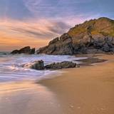 Sunset Seascape on Soar Mill Cove Beach, Devon, UK Photographic Print by  Cedrickphotography