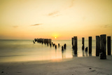 Sunset Pier Photographic Print by roberto bowyer