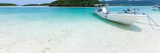 White Sandy Tropical Beach with Boats, Okinawa Photographic Print by Ippei Naoi