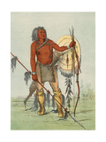Racial, Comanche Warrior Giclee Print by George Catlin