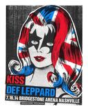 Kiss and Def Leppard Sitodruk autor Print Mafia