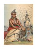 Minitaree Chief Giclee Print by George Catlin