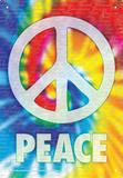 Peace Words Tin Sign - Metal Tabela
