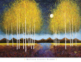 Melissa Graves-Brown - Full Moon Panorama Obrazy