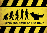 Cave To Cave Tin Sign Tin Sign