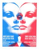 Arcade Fire Sérigraphie par  Print Mafia