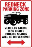 Redneck Parking Tin Sign Blikskilt