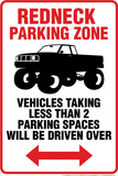 Redneck Parking Tin Sign Tin Sign