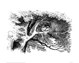 Cheshire Cat in a Tree Print by John Tenniel