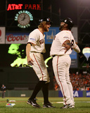 Hunter Pence & Pablo Sandoval Game 5 of the 2014 World Series Action Photo