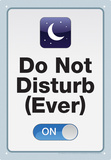 Do Not Disturb Tin Sign Tin Sign