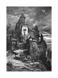 Mountain Castle Premium Giclee Print by G Bauernfeind