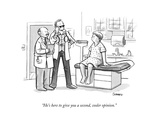 """He's here to give you a second, cooler opinion."" - New Yorker Cartoon Premium Giclee Print by Benjamin Schwartz"