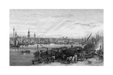 New London Bridge 1826 Giclee Print by George Cooke