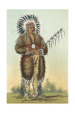 Racial, Ottoe Warrior Giclee Print by George Catlin