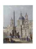 Rome, S'Agnese C1840 Giclee Print by G B Moore