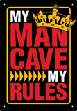 Man Cave Rules Tin Sign Tin Sign