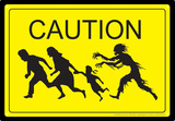 Caution Zombies Tin Sign Tin Sign