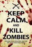 Keep Calm Kill Zombies Tin Sign Tin Sign