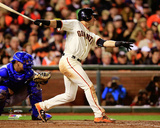 Joe Panik Game 4 of the 2014 World Series Action Photo