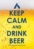Keep Calm Beer Tin Sign Blikkskilt