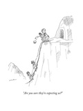 """""""Are you sure they're expecting us?"""" - New Yorker Cartoon Premium Giclee Print by Michael Maslin"""