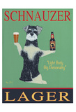 Schnauzer Lager Collectable Print by Ken Bailey
