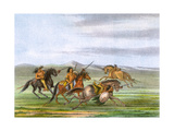 Racial, Comanche Horses Premium Giclee Print by George Catlin