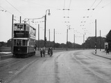 London Trolley Bus Photographic Print by Fred Musto