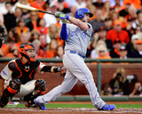 Mike Moustakas Game 3 of the 2014 World Series Action Photo
