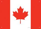 Canada Flag Plaque en métal
