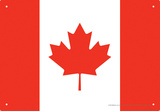 Canada Flag Tin Sign